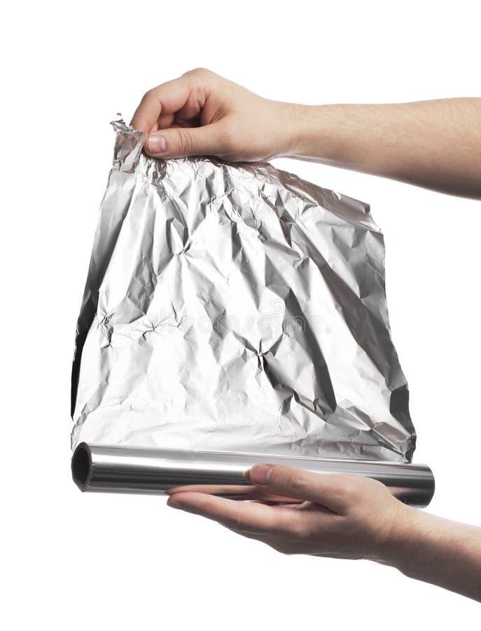 алюминиевая фольга стоковое изображение rf