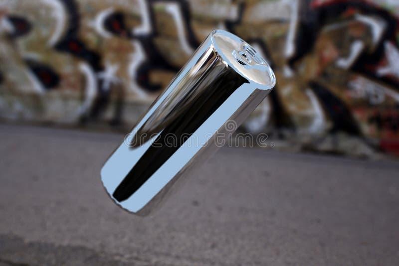 алюминиевая чонсервная банка levitating иллюстрация вектора