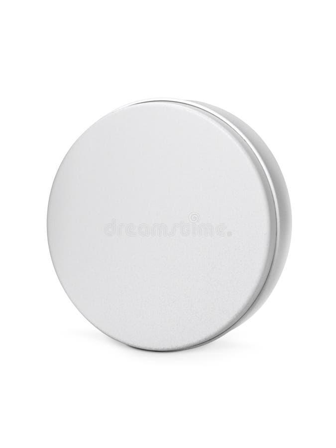 Алюминиевая Cream белизна патронов изолированная на белой предпосылке стоковые фото