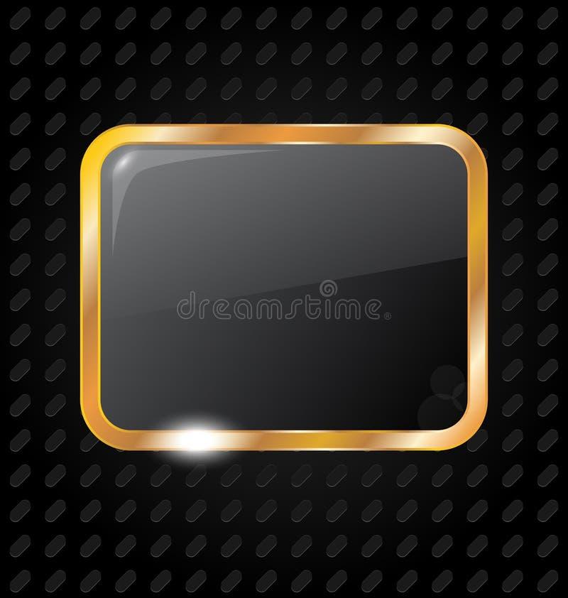 алюминиевое изолированное золотистое рамки предпосылки бесплатная иллюстрация