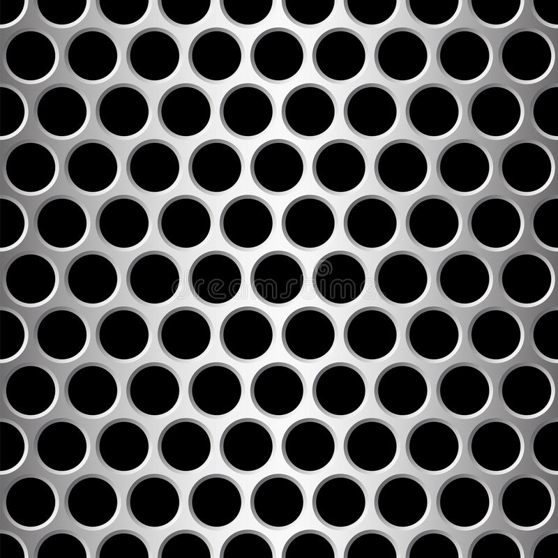 алюминиевое острословие картины отверстий круглое безшовное иллюстрация вектора
