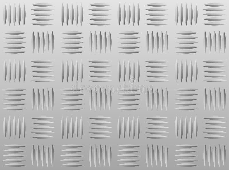 алюминиевое diamondplate иллюстрация вектора
