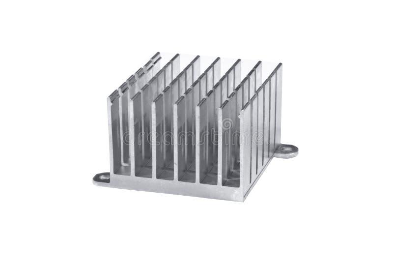 Алюминиевый изолированный радиатор стоковые фото