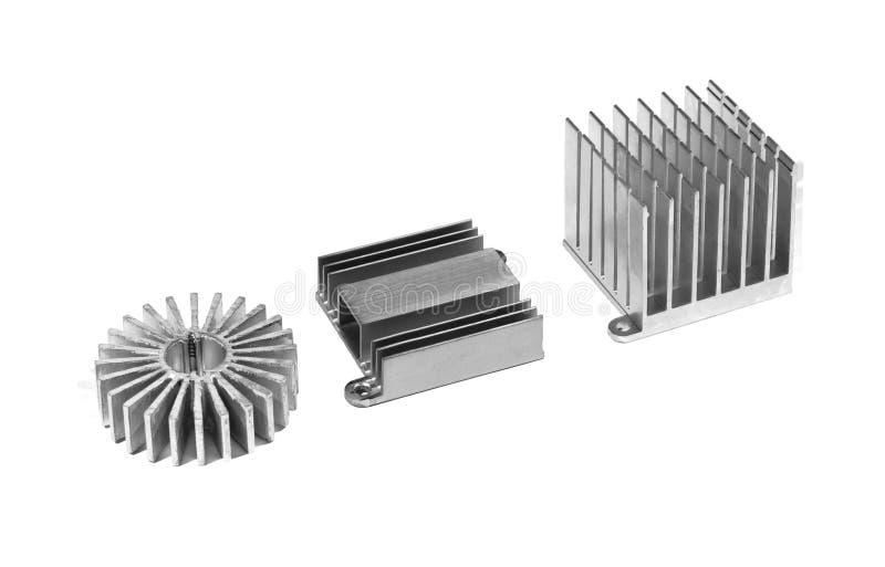 Алюминиевый изолированный радиатор стоковое изображение