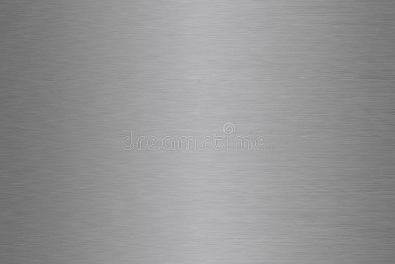 Алюминиевый, стальной, серебряный, почищенный щеткой градиент предпосылки металла стоковое фото