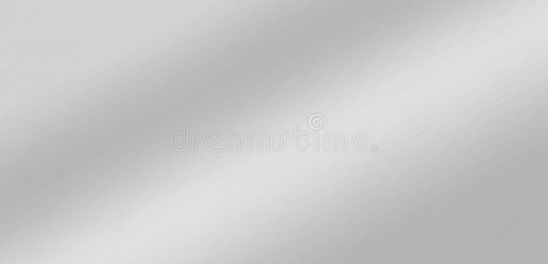 Алюминиевый, стальной, серебряный, почищенный щеткой градиент предпосылки металла стоковые фото