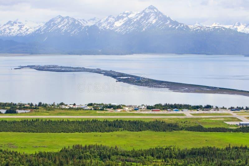 Аляска - авиапорт пробежки домой и вертел стоковое фото
