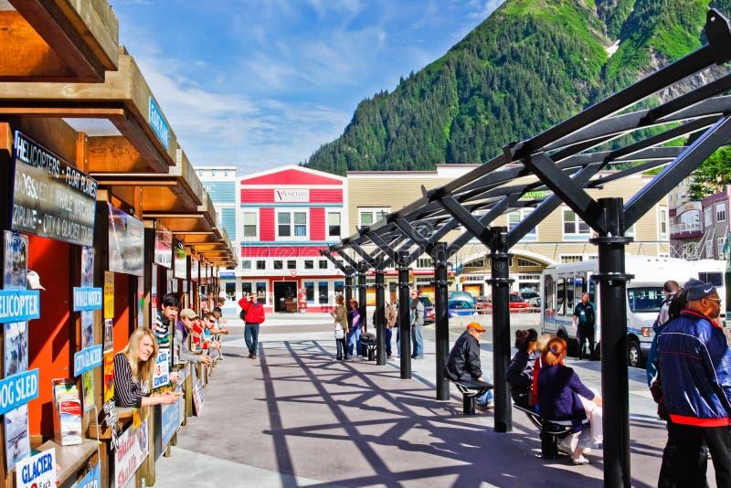 Аляска - эпицентр деятельности перехода путешествия круиза Juneau стоковые изображения