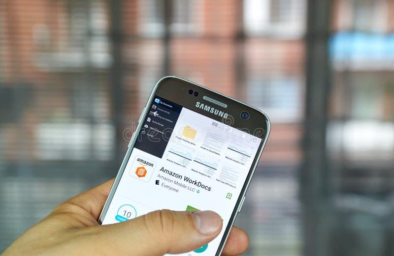 Амазонка WorkDocs app стоковое изображение