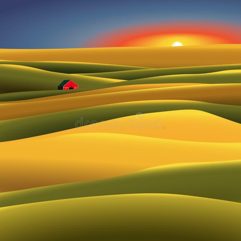 Амбар в поле стоковое изображение