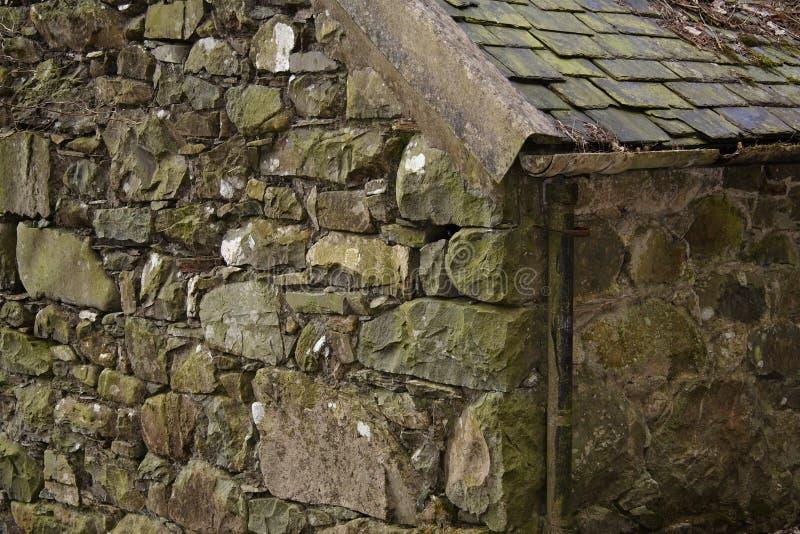 амбар каменный welsh стоковая фотография rf