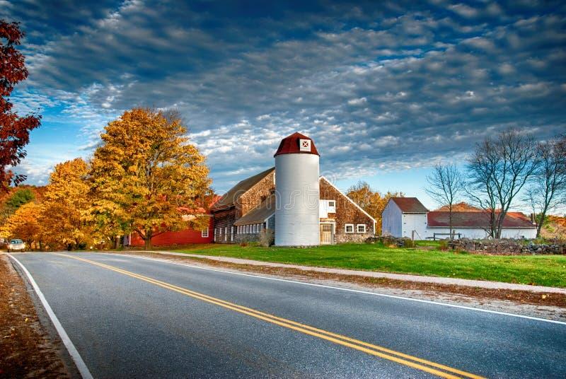 Амбар Новой Англии стоковые изображения