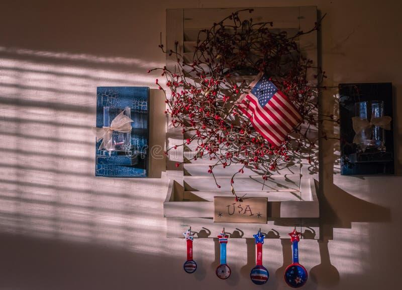 Американа оформление стены стоковые фотографии rf
