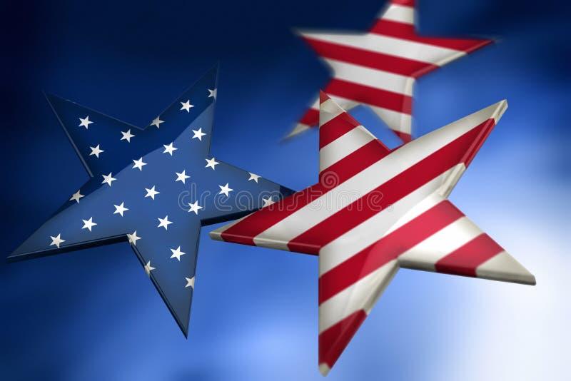 американец как звезды флага иллюстрация штока