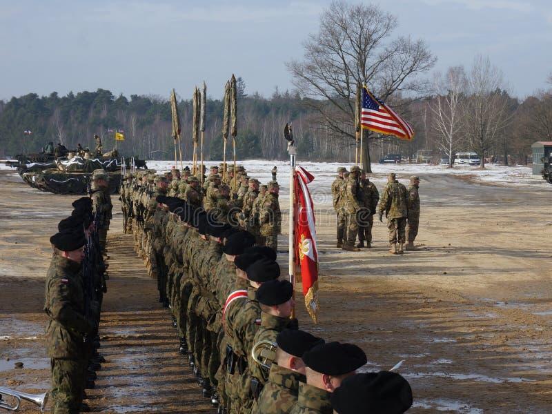 Американец Abrams в Польше стоковое изображение rf