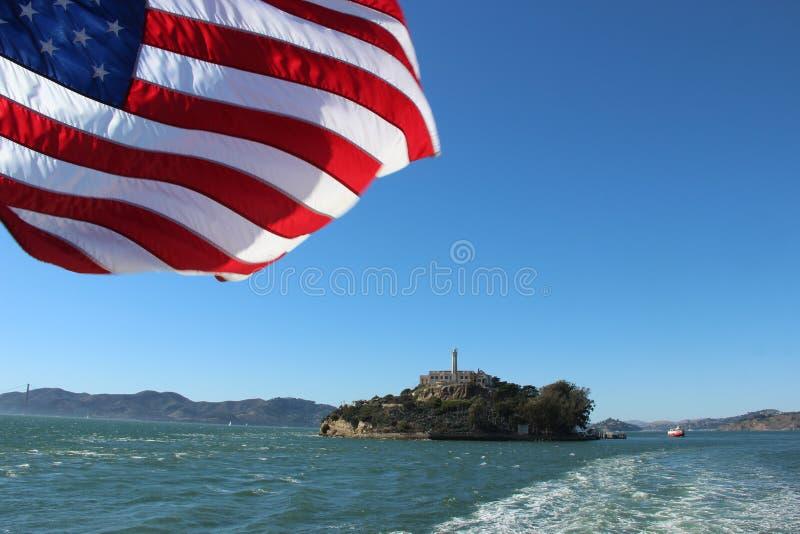 Американец Alcatraz стоковое изображение rf