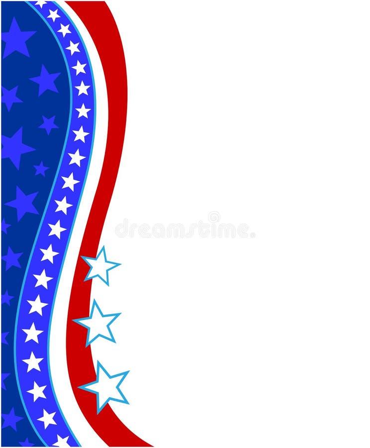Американская абстрактная стилизованная рамка флага иллюстрация штока