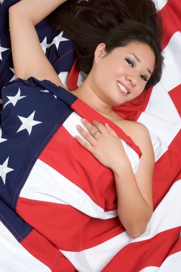 американская азиатская женщина стоковое фото rf