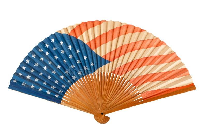 американская античная складчатость флага вентилятора стоковые фотографии rf