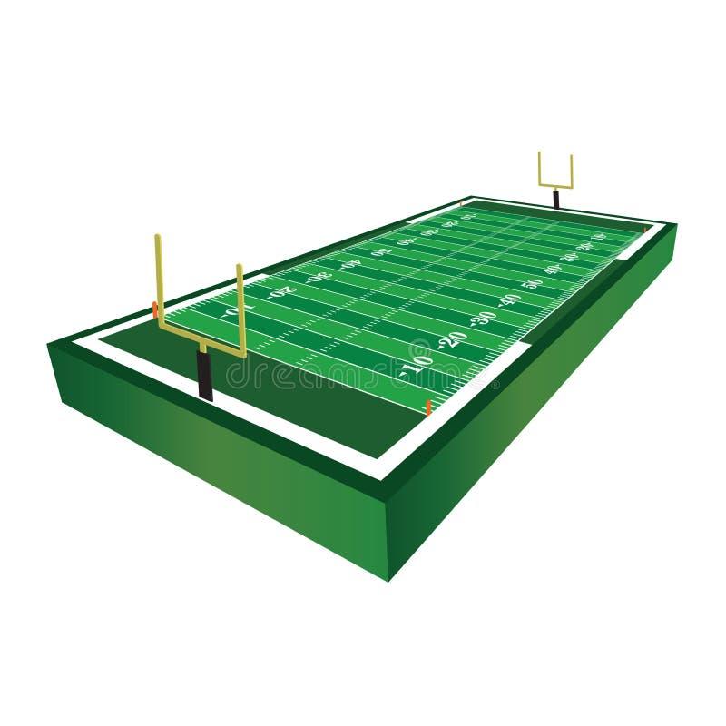 американская иллюстрация футбольного поля 3D иллюстрация вектора