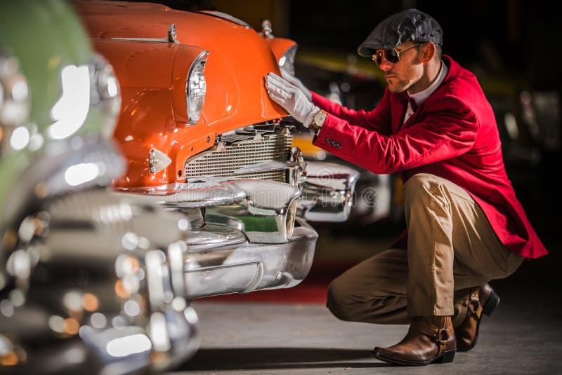 Американская классическая оценка автомобиля стоковая фотография rf