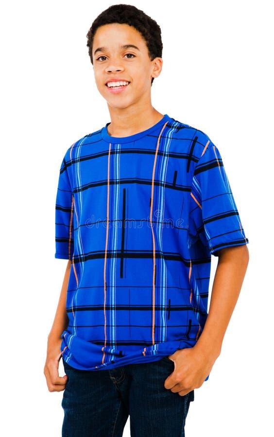 американская латынь мальчика стоя подросткова стоковые изображения rf