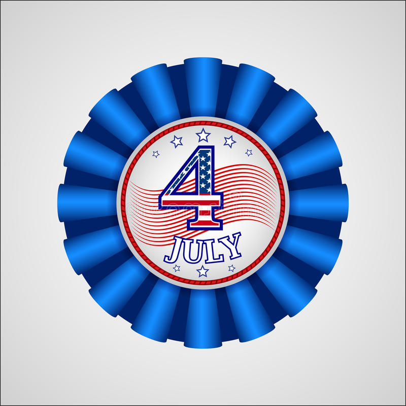 американская независимость дня Значок праздника иллюстрация вектора