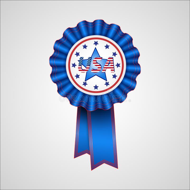 американская независимость дня Значок праздника иллюстрация штока