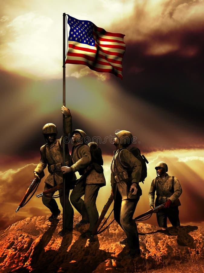 Американская победа иллюстрация вектора