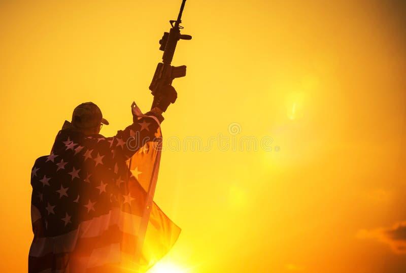 Американская победа стоковое изображение