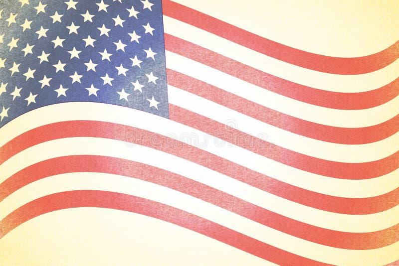 американская предпосылка увяла флаг деревенский иллюстрация вектора