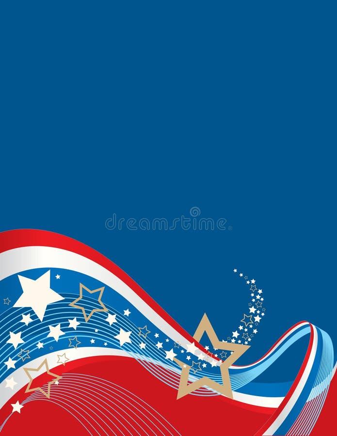 американская предпосылка иллюстрация вектора