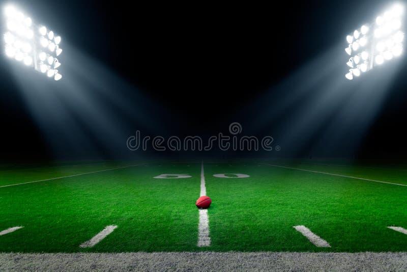 Американская предпосылка футбольного стадиона стоковая фотография
