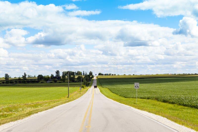 Американская проселочная дорога стоковая фотография rf