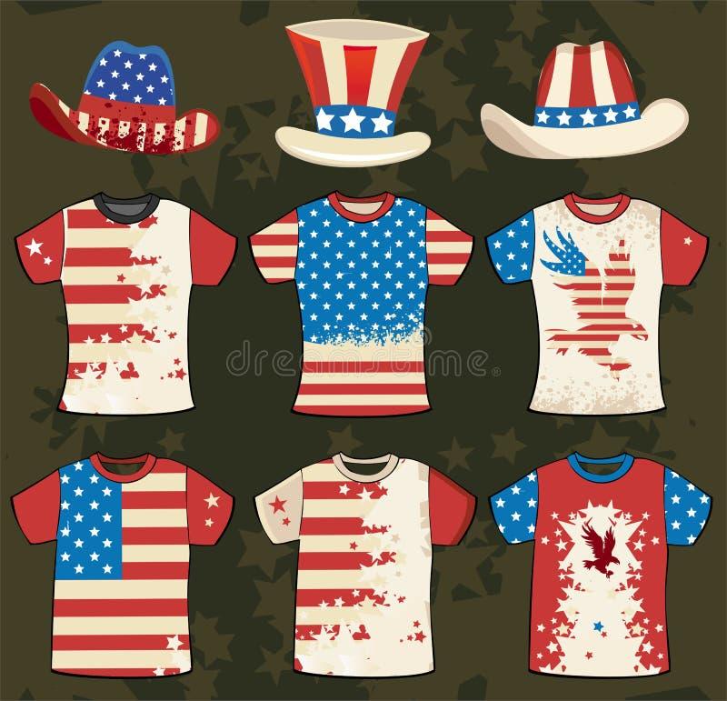 американская рубашка t grunge конструкции бесплатная иллюстрация