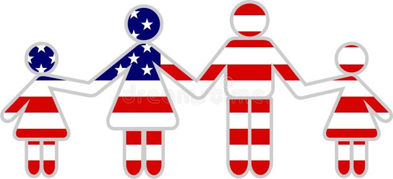 американская семья иллюстрация штока