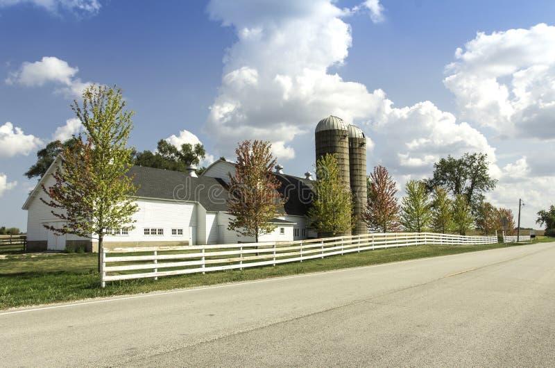 Американская ферма страны стоковая фотография