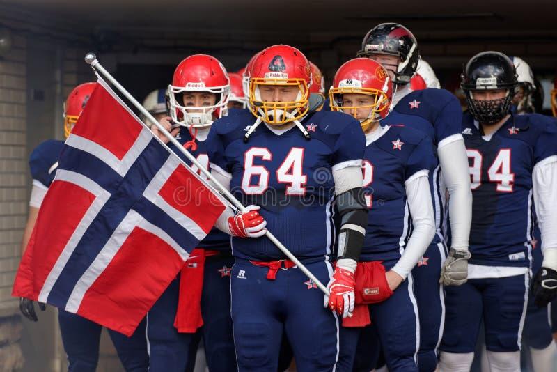 Американская футбольная команда Норвегия стоковые изображения rf