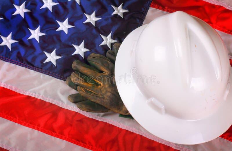 Американская шестерня рабочия стоковое изображение