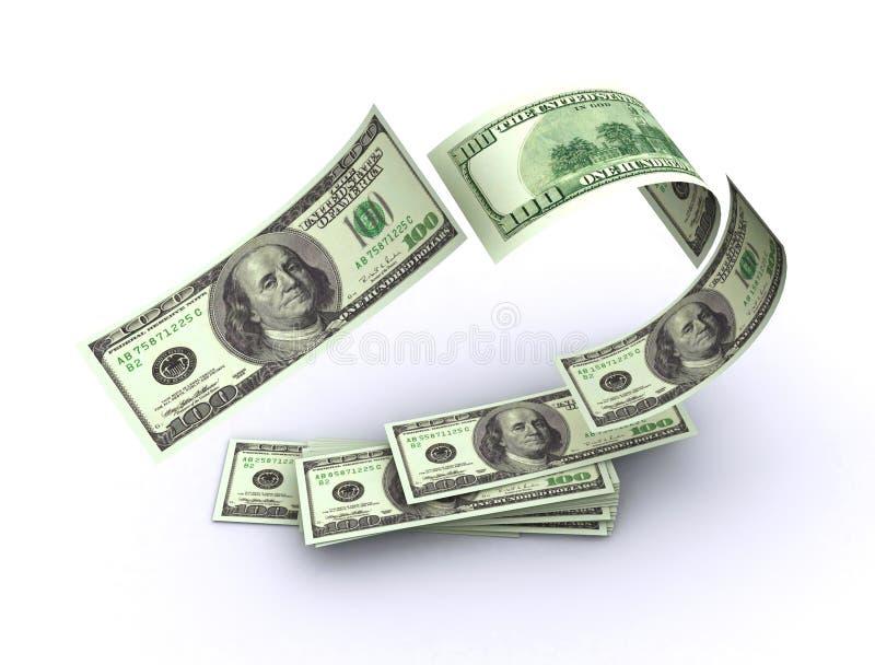 американские деньги летания иллюстрация вектора