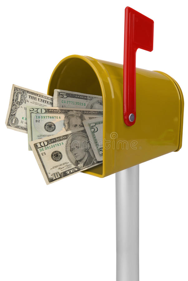 американские деньги почтового ящика иллюстрация штока