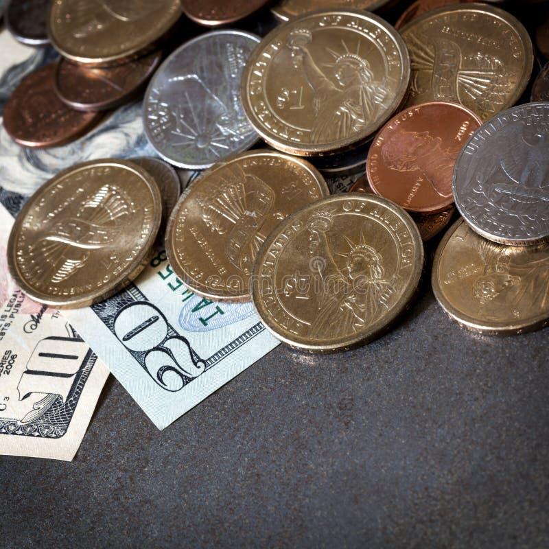 Американские деньги над шифером стоковая фотография rf