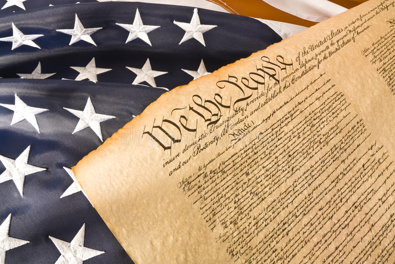 американские люди конституции стоковая фотография