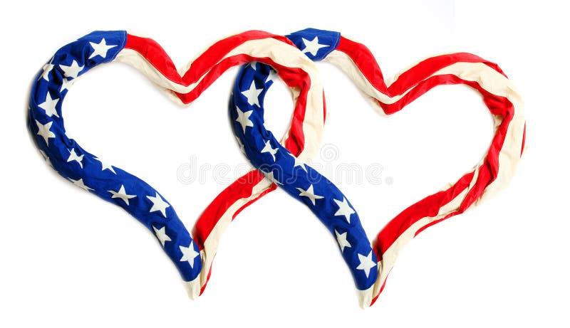 американские сердца стоковое изображение