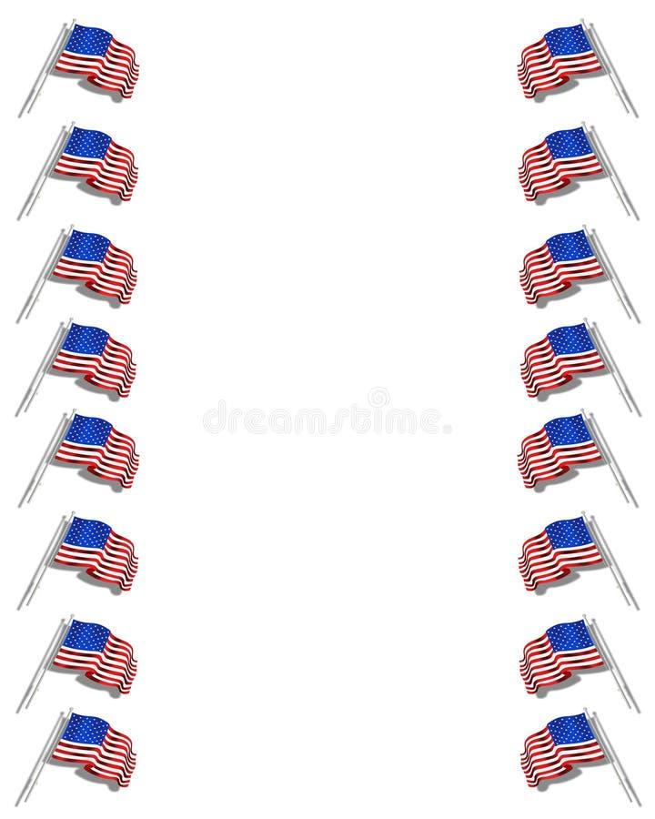американские флаги граници бесплатная иллюстрация