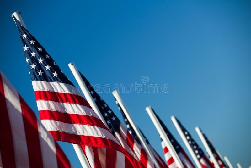 американские флаги гребут США стоковая фотография rf