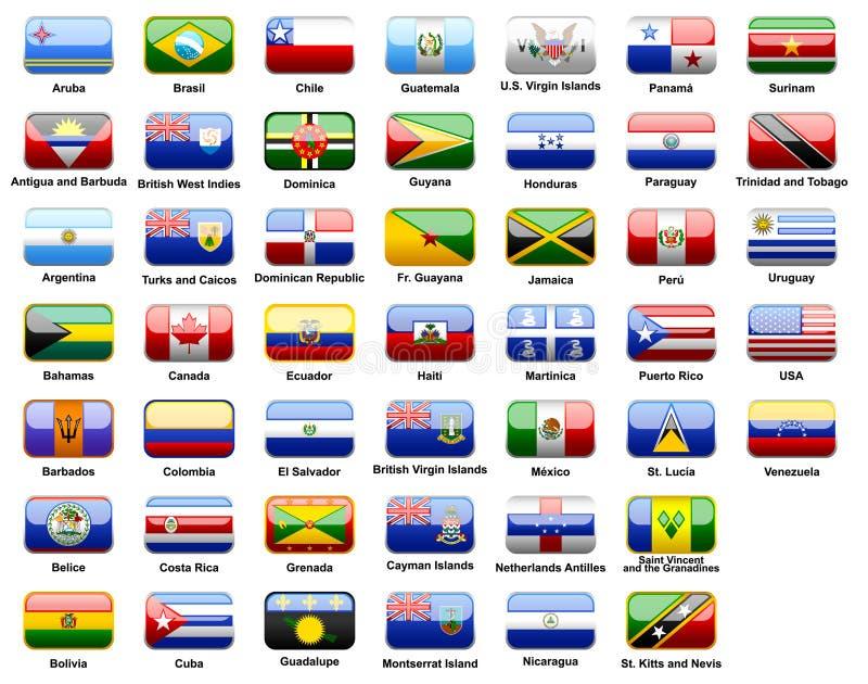американские флаги стран бесплатная иллюстрация