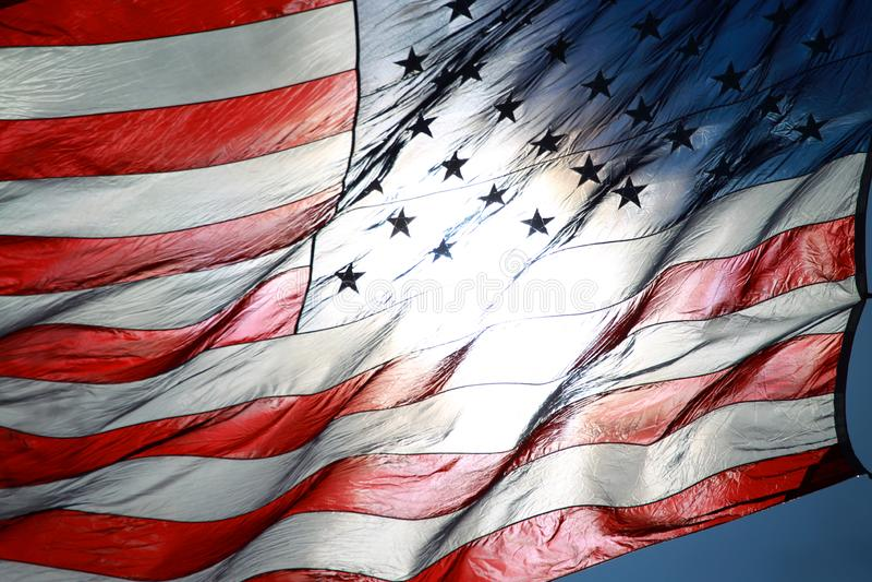 американские флаги стоковое изображение