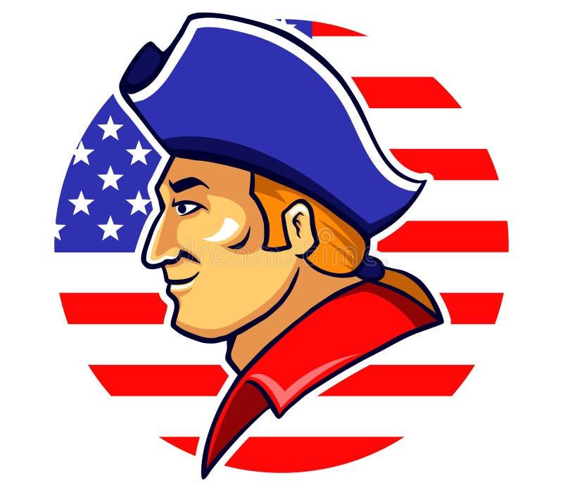 Американские Minutemen иллюстрация вектора