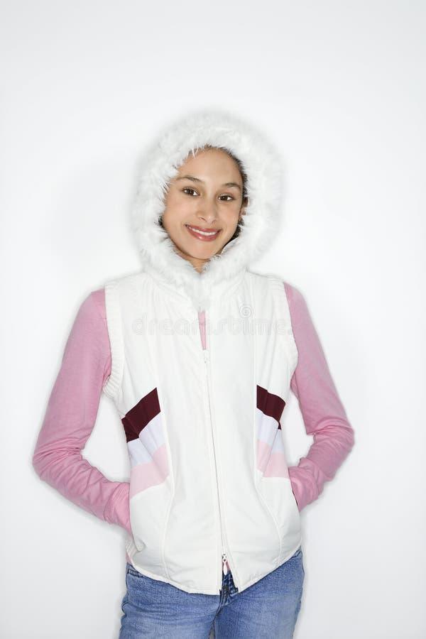 американский азиатский портрет девушки предназначенный для подростков стоковое изображение
